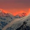 Закат над курортом Санкт-Мориц в Швейцарии. 24 января.