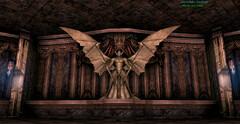 Языческий храм - каменный демон
